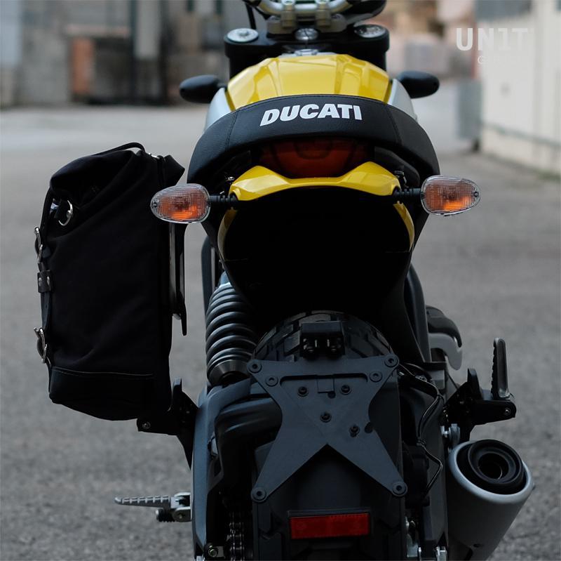 Segeltuch-Seitentasche + Scrambler-Rahmen der Ducati-Reihe
