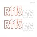 R115 GS Aufkleber