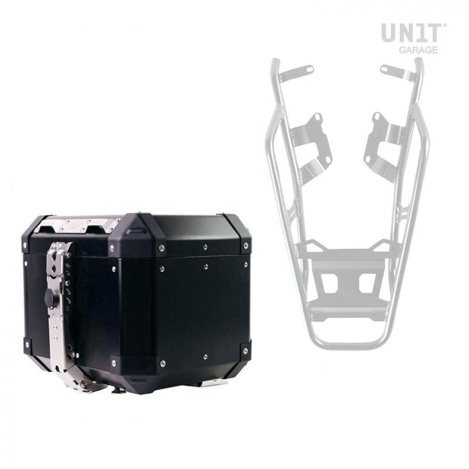 Atlas 36L Aluminium Top Case + Gepäckträger hinten mit Beifahrergriffen