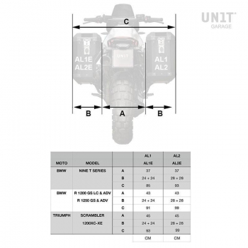 Aluminium 41L Seitentasche Atlas Schalldämpfer Seite