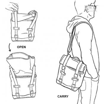 Spalttasche aus Leder