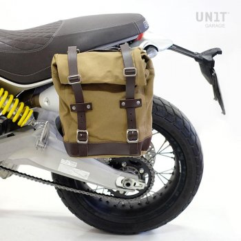 Canvas-Seitentasche + Ducati Scrambler 1100 Rahmen