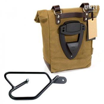 Canvas Seitentasche + Guzzi V9 Bobber DX Rahmen