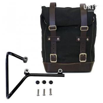 Canvas-Seitentasche + husqvarna svartpilen 701 Rahmen
