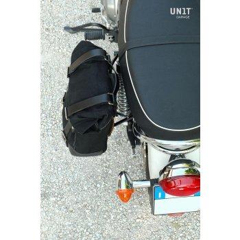 Canvas-Seitentasche + Triumph Scrambler/Bonneville-Linke Rahmen