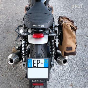 Canvas Seitentasche + Triumph Speed Twin DX Rahmen