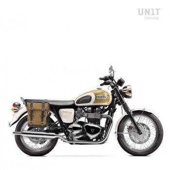 Canvas-Seitentasche + Triumph T100 Bonneville-Rechte Rahmen (2001-2016)
