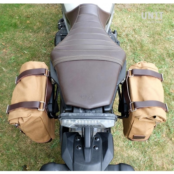 Canvas-Seitentasche + Yamaha-Rechte Rahmen