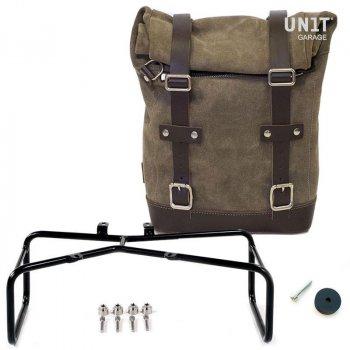 Seitentasche aus Leder + Doppelrahmen NineT