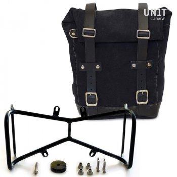 Seitentasche aus Spaltleder + Double NineT symmetrischer Rahmen