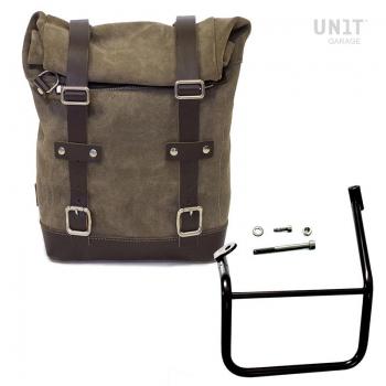 Seitentasche aus Spaltleder + Caballero SX Rahmen