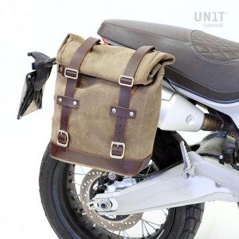 Seitentasche aus Spaltleder + Ducati Scrambler 1100 Rahmen