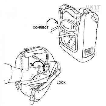 Seitentasche aus Spaltleder + Ducati Scrambler DS Rahmen