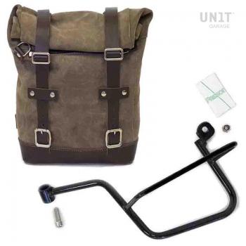 Seitentasche aus Spaltleder + Guzzi V7 SX Rahmen