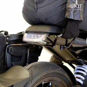 Seitentasche aus Spaltleder + husqvarna 401 Rahmen