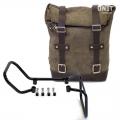 Seitentasche aus Spaltleder + husqvarna vitpilen 701 Rahmen