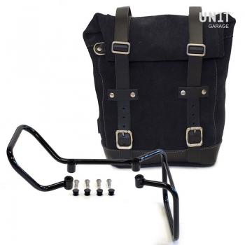 Seitentasche aus Spaltleder + husqvarna 701 Rahmen