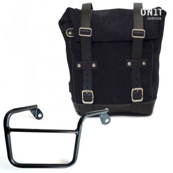 Seitentasche aus Spaltleder + Mash Recht Rahmen