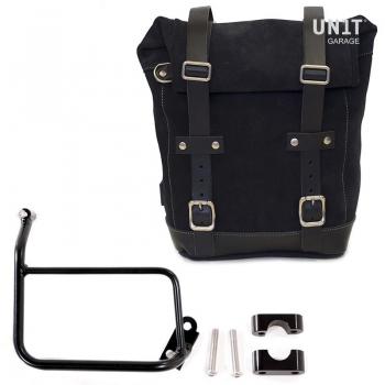 Seitentasche aus Spaltleder + R1200 GS Rahmen