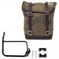 Seitentasche aus Leder + Rahmen R1200 GS