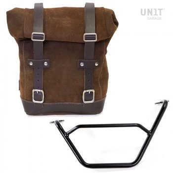 Seitentasche aus Spaltleder + R1200 GS LC Rahmen