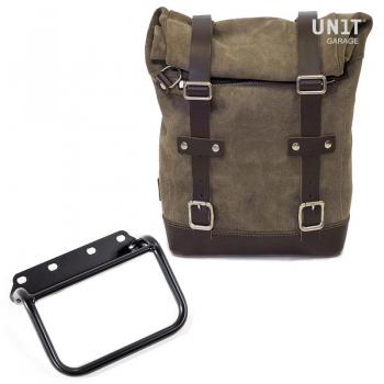 Seitentasche aus Spaltleder + Rahmen R80 G / S