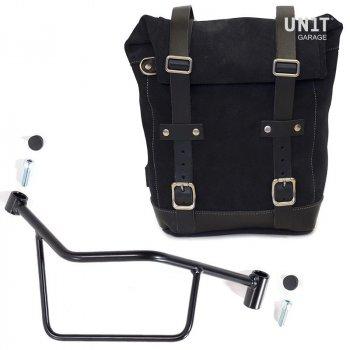 Seitentasche aus Spaltleder + Rahmen R 1200 R LC DX