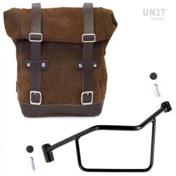Seitentasche aus Spaltleder + Rahmen R 1200 R LC SX