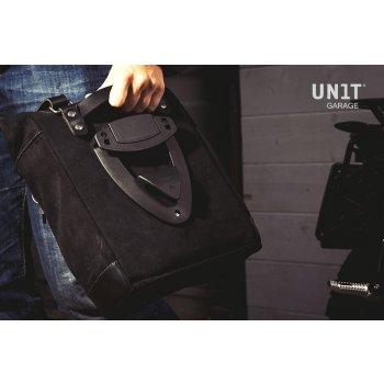 Seitentasche aus Spaltleder + Gestell der K-Serie