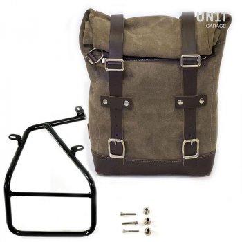 Seitentasche aus Spaltleder + Rahmen der NineT Serie