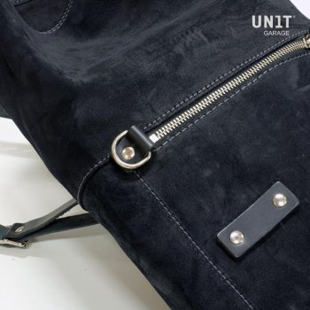Seitentasche aus Leder Split + T120 Rahmen
