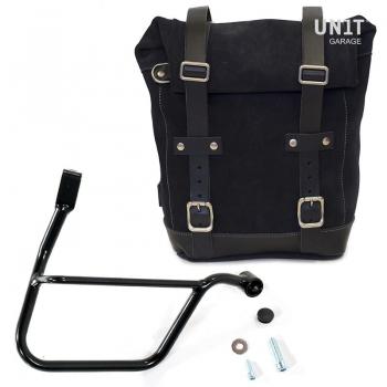 Seitentasche aus Spaltleder + Triumph Street DX Rahmen