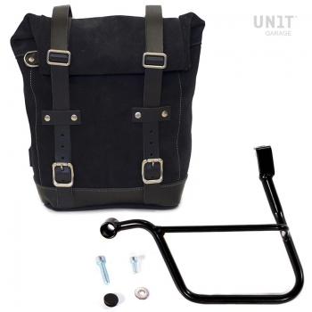Seitentasche aus Spaltleder + Triumph Street SX-Rahmen