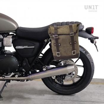 Seitentasche aus Spaltleder + Triumph Rahmen Street Twin 900 (2016 Bis heute)
