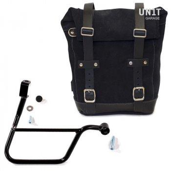 Seitentasche aus Spaltleder + Triumph T100-T120 DX Rahmen