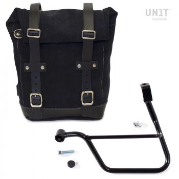 Seitentasche aus Spaltleder + Triumph Rahmen T100-T120 SX