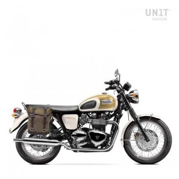 Seitentasche aus Spaltleder + Triumph T100 Bonneville Rechte Rahmen (2001-2016)