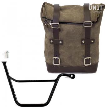 Seitentasche aus Spaltleder + Triumph T100 Bonneville Rahmen DX