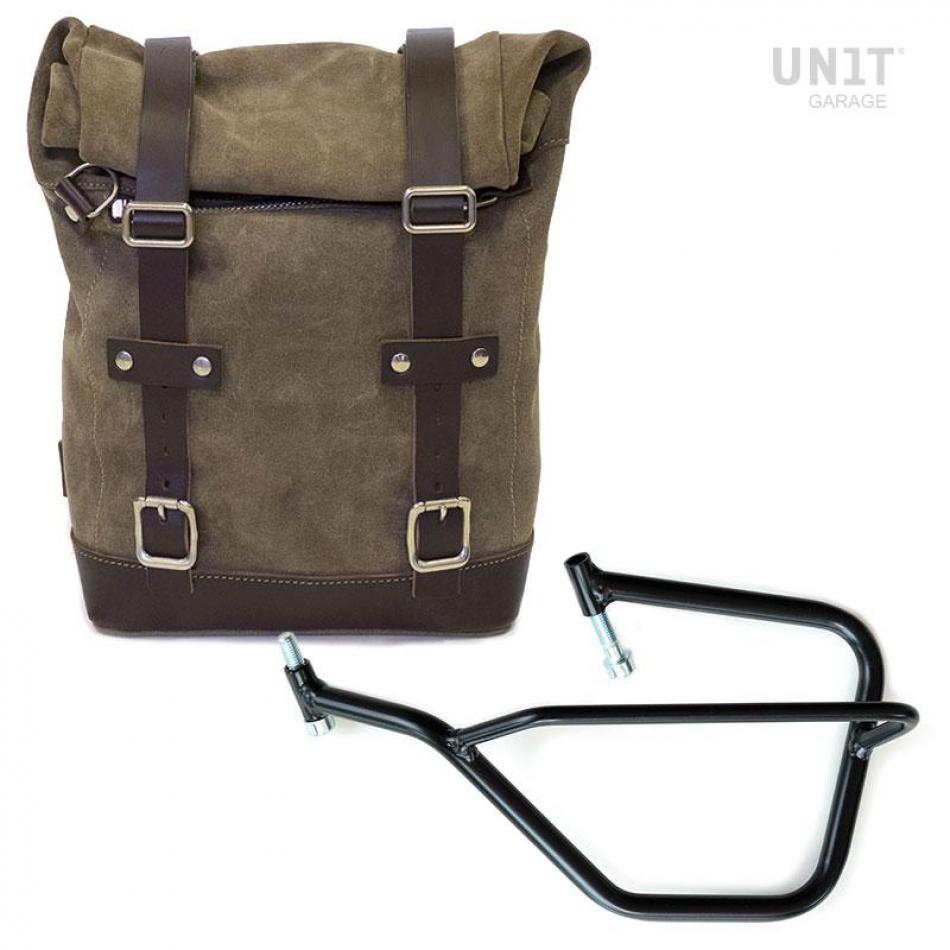 Seitentasche aus Spaltleder + Yamaha Linke Rahmen
