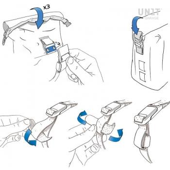 Canvas-Seitentasche + Rahmen der NineT-Serie