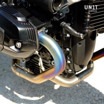 Schalldämpfer Krümmer ohne Titankatalysator mit sichtbarer Verschweißung