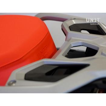 Satteldecke Rallye in Orange Leder