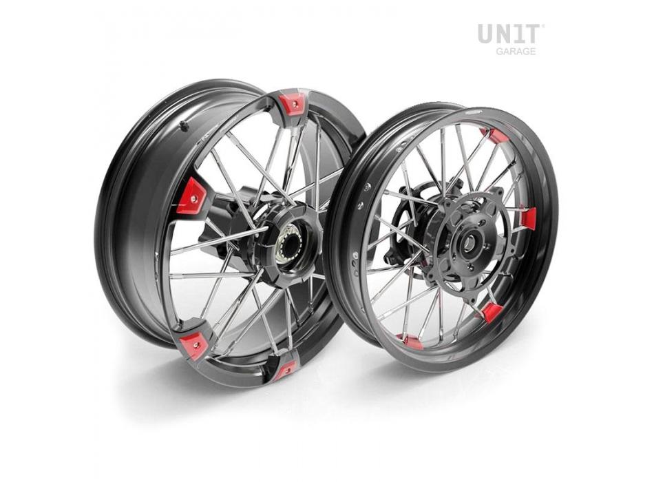 Paar Speichenräder NineT Racer & Pure 24M9 SX tubeless