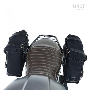 Zwei Seitentaschen aus Leder + Symmetrischer Doppelrahmen NineT