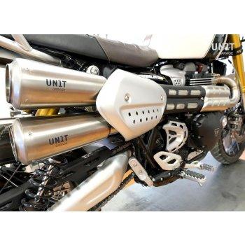 Triumph 1200XC & XE Schalldämpfer mit Kollektor ohne Katalysator