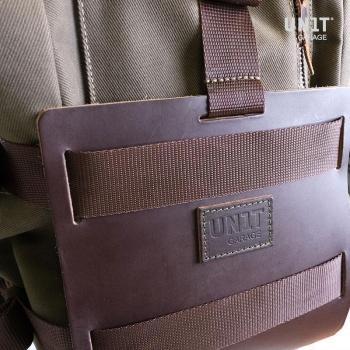 Aluminium-Taschenhalter mit verstellbarer Lederfront, Schnellkupplung und Rahmen