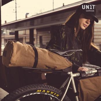 Gepäckablage für Schnellverschluss-Sitzrohr mit Lederbezug