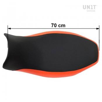 Schwarz-oranger Satte/Sitzbank aus Kunstleder R1150R